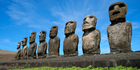 Some of the iconic Easter Island statues are at risk of being lost to the sea because of coastal erosion. Photo / Supplied