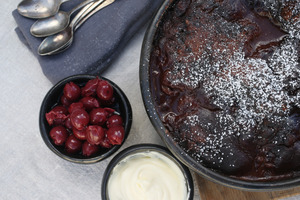 A cosy choc pud on a cold winter's night