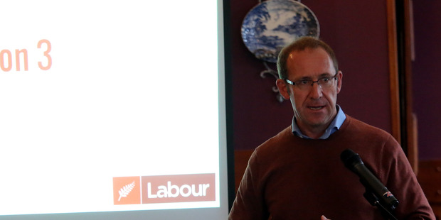 LEADER'S MESSAGE: Labour Party leader Andrew Little was a keynote speaker at the party's Region 3 in the city on Saturday. PHOTO/STUART MUNRO