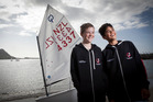 Tauranga sailors Lachlan Dillon (left) and Joel Kennedy will represent New Zealand at a major Optimist regatta in Sri Lanka. Photo / Andrew Warner