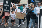 Thousands around the North Island marched for Moko yesterday. Photo / Nick Reed