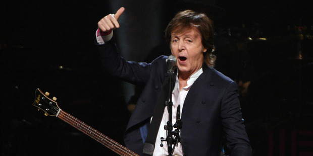Sir Paul is still keen to collaborate with younger musicians. Photo / AP