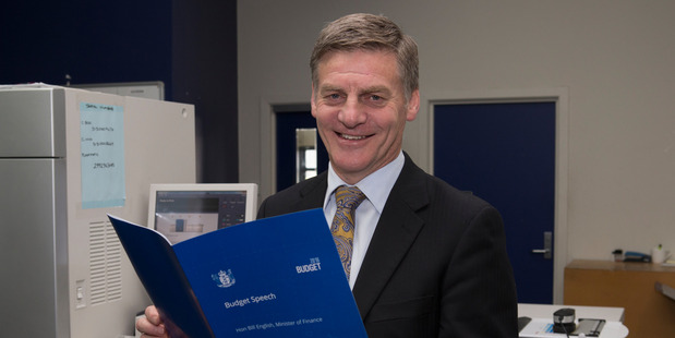 Finance Minister Bill English will deliver the Budget in the House today at 2pm.