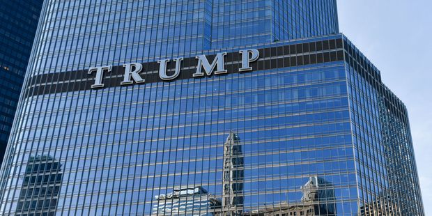 The Trump International Hotel and Tower in Chicago.