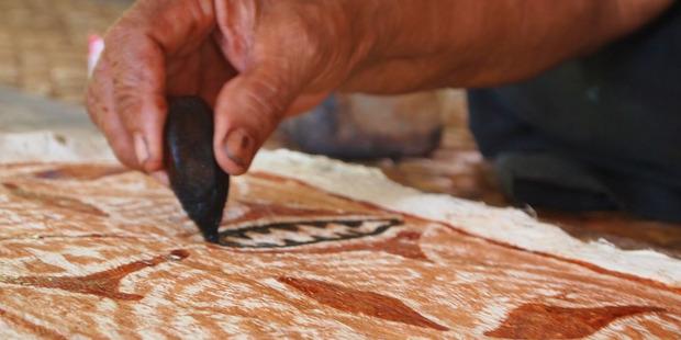 Samoan tapa cloth being made in Savai'i. Photo / Cherrie Mio Rhodes
