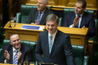 Finance Minister Bill English reading his Budget 2016 in the House. Photo / Mark Mitchell