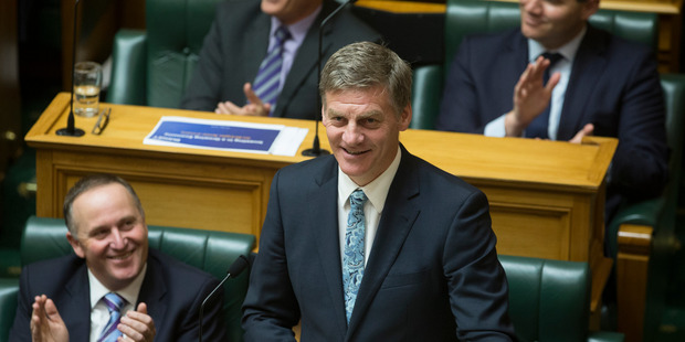 Loading Finance Minister Bill English reading his Budget 2016 in the House. Photo / Mark Mitchell