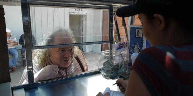 Jonathan Gold, looking hungry in City of Gold. (Supplied)