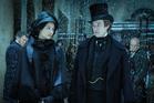 Tuppence Middleton as Amelia Havisham and Joseph Quinn as Arthur Havisham. Photo / BBC