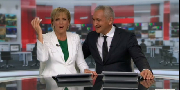 Loading Hilary Barry teared up. Photo: MediaWorks