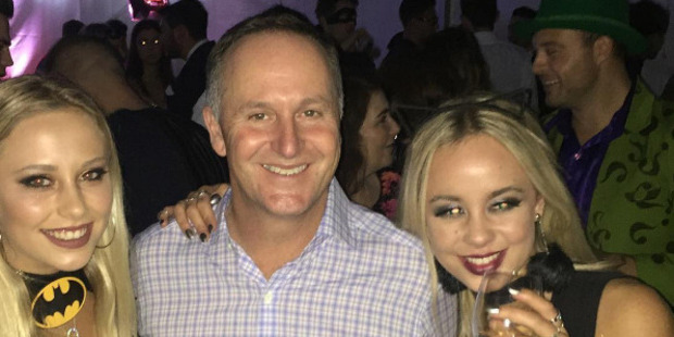 John Key at Max Key's 21st birthday party. Photo / Instagram