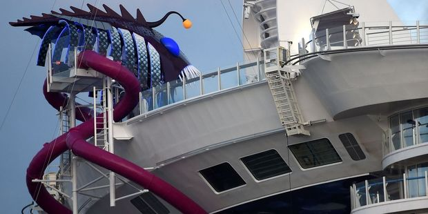 The Ultimate Abyss slide on Harmony of the Sea. Photo / Supplied