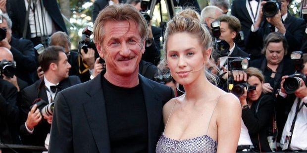 Director Sean Penn, and his daughter Dylan at the screening of the film The Last Face at the 69th international film festival, Cannes. Photo / AP