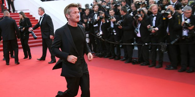Sean Penn brushed aside Cannes critics' bad reviews of The Last Face. Photo / AP