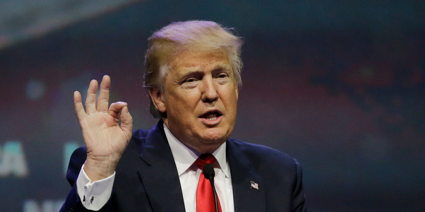 Donald Trump speaks at the National Rifle Association convention. Photo / AP