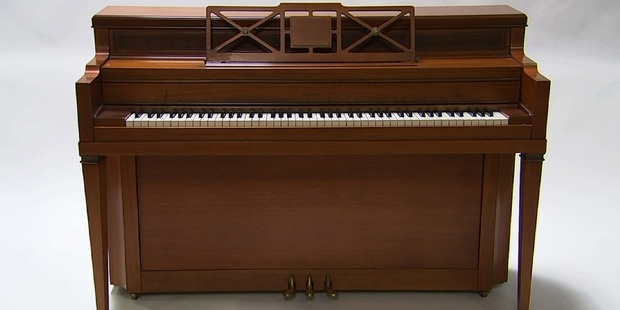 Lady Gaga's childhood piano which she used to write her first song at age 5. Photo / AP
