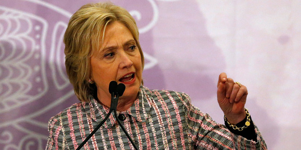 Hillary Clinton speaks at the Trayvon Martin Foundation's 'Circle of Mothers' Gala at the Embassy Suites Hotel. Photo / AP
