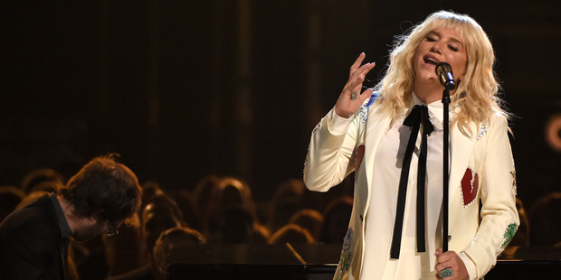 Kesha performs It Ain't Me Babe at the Billboard Music Awards. Photo / AP