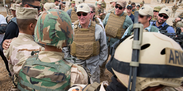 New Zealand Prime Minister John Key visited Kiwi troops based at Camp Taji in Iraq who are part of a mission to train Iraqi troops. Photo / Supplied