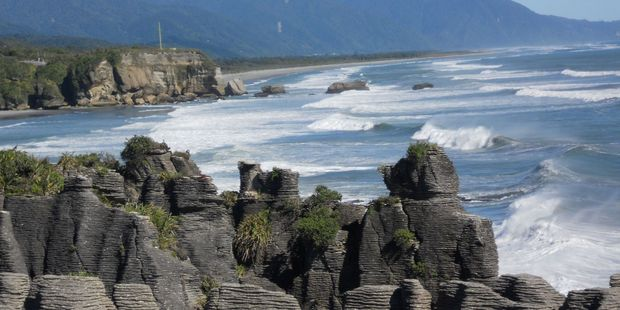 Constant publicity about the sea erosion near Punakaiki Rocks was alarming people with bookings at the local campground. Photo / Supplied