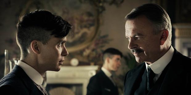 Cillian Murphy and Sam Neill star in the UKTV series Peaky Blinders.