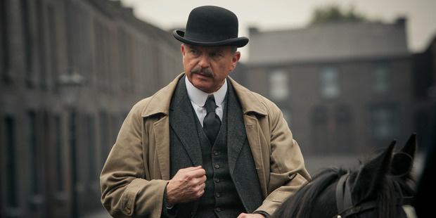 Sam Neill in a scene from the TV show Peaky Blinders.