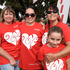 L-R Kathy Hutchings, Sarah Waugh, Ruby Hollands, 8, Jeanette MacDiarmid. Jennian Homes Mother's Day Fun Run/Walk. Photo/George Novak