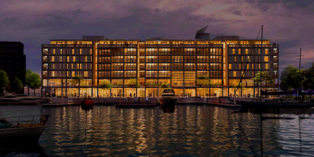 Despite new-builds such as the Park Hyatt Auckland, on the city's waterfront, due for completion next year, Auckland's hotel sector will remain highly constrained. Photo / Supplied