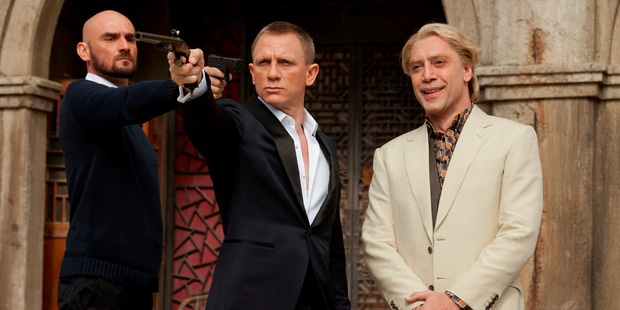 Daniel Craig in James Bond in a scene from the movie, Skyfall.