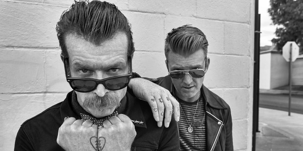 The Eagles of Death Metal; Jesse Hughes and Joshua Homme. Photo / Supplied