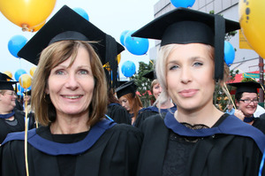 Andrea Thornton and her daughter Hannah Ratcliffe at their graduation.