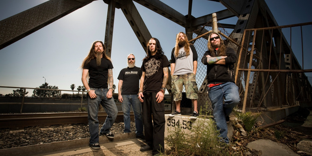 Lamb of God will play as support for Slipknot this October. Photo / Supplied