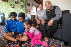 Tuhe and Mathew Tauia a year ago with children (from left) Marcel, Teilian and Tebora. Photo / Nick Reed