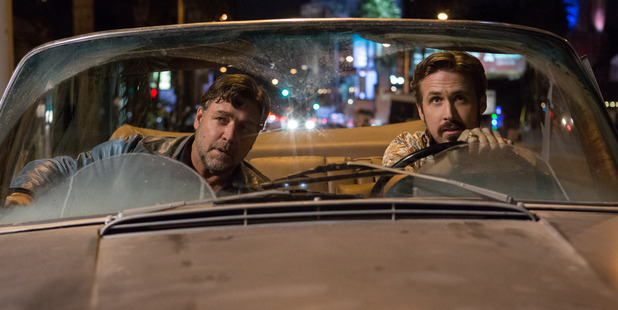Loading Russell Crowe and Ryan Gosling hit the town in Nice Guys (Supplied)