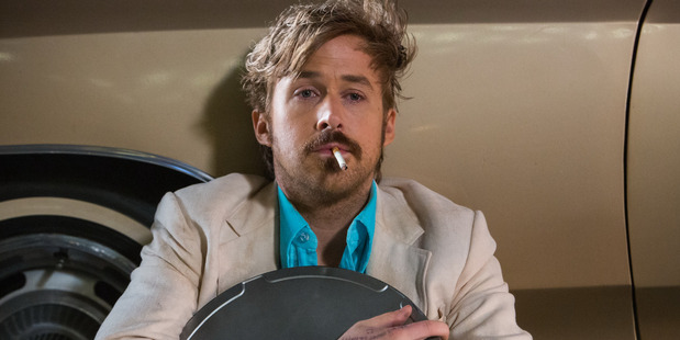 "Ryan Gosling after a hard day of ""sozzled slapstick"" on Nice Guys (Supplied)."