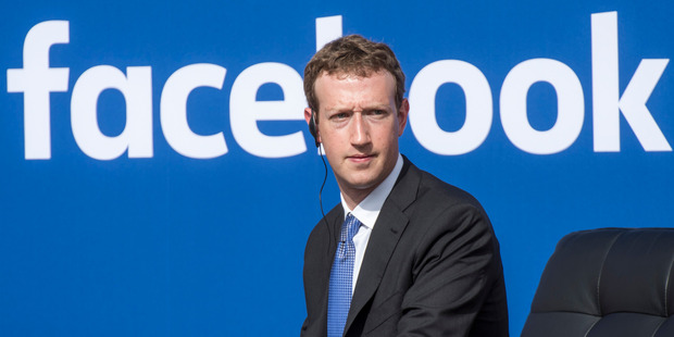 Facebook founder Mark Zuckerberg. Photo / Bloomberg