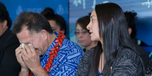 George Siaosi's father, Papali'i Seiuli Johnny and fiancee Melissa Ansin appeal for information after the assault. Photo / Greg Bowker