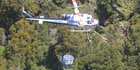 A helicopter involved in a 1080 drop to control TB in the Central North Island.