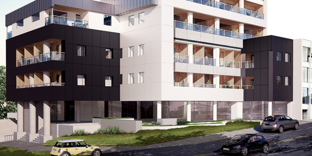 The Kosmopolis could be the first residential apartment block in Auckland to be fully fitted with smart home technology. Photo / Supplied