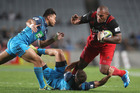 There was nothing tired about the way the Blues defended against the Crusaders last night, however. Photo / Getty Images