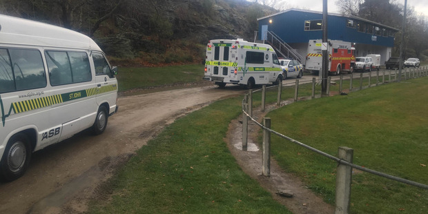 Roxburgh Rugby club where a large scale rescue operation is being run. Photo / Damon Forde, Live24 NZ