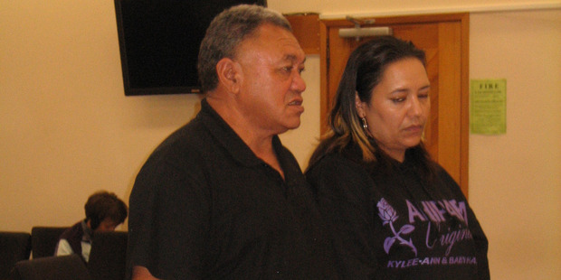 Kylee Rakich's father Joe Rakich and sister Alicia (Leash) King give victim impact statements in Kaihohe Court. Photo / Lindy Laird