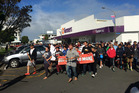 Whangarei's March for Moko makes its way into Laurie Hall Park. Photo / Mikaela Collins