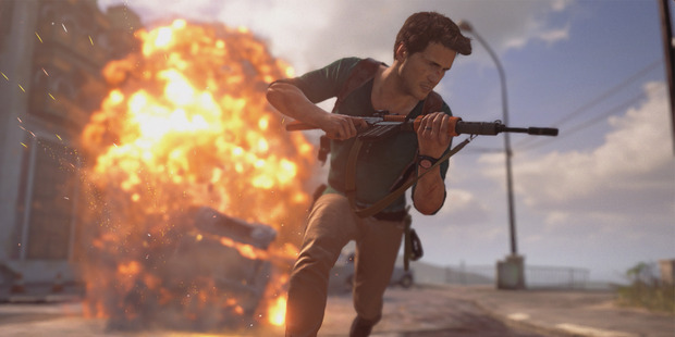 A scene from the video game Uncharted 4: A Thief's End.