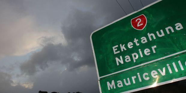 Wednesday morning's storm put on a show for Eketahuna residents. PHOTO/ANDREW BONALLACK