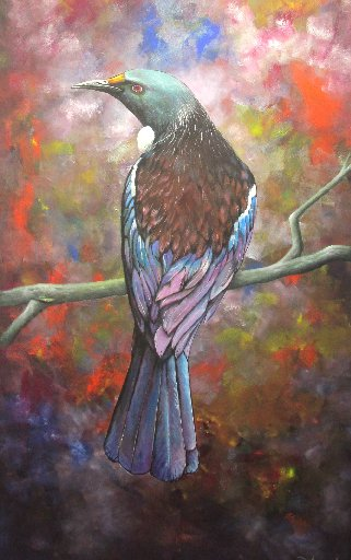 This acrylic painting called Tui sold for the $1000 in the Northland prisoners' art show.