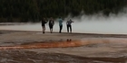 Watch: Watch: Men ignore signs and walk on Grand Prismatic Spring in Yellowstone