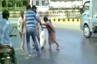 A severe heatwave has set off new records in India, so much so that the roads beneath pedestrians are literally melting like wet cement. Source: NDTV