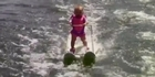 Watch: Watch: Baby sets water-skiing record