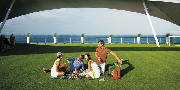 Passengers can enjoy a picnic on Celebrity Cruise's Lawn Club. Photo / Supplied
